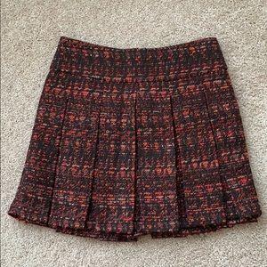 Alice + Olivia tweed pleated mini skirt sz 2